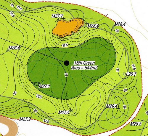The next best is the diagram of each green from an Official Yardage ...